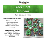 Rock Cacti Garden Lesson Plan (Art, Science, Nature) - Cla