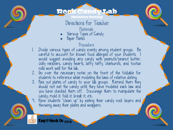 Rock Candy Lab (Relative Dating)