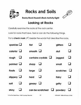 Rock Center Activities Gr. 2-3