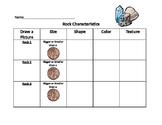 Rock Characteristics Graphic Organizer