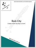 """Rock City"" Fun Recorder Music with Background Track"
