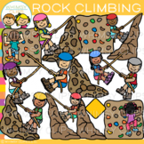 Rock Climbing Clip Art {Whimsy Clips Kids In Action Clip Art}