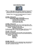 Earth Science Project, Rock Collecting, Sorting Project, Rubric, Editable