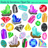 Rock Collection Clipart - Rocks, Minerals and Gemstones