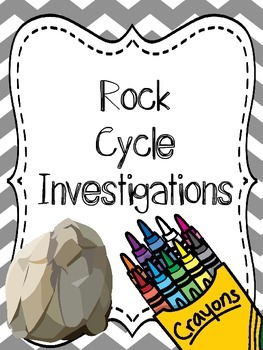Rock Cycle Investigation {Hands On Lab, Observations and Questions}