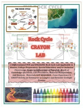 Rock Cycle CRAYON LAB (A MUST HAVE!  Unique and So Much Fun!)