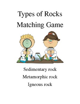 Rock Cycle Card Sort / Game