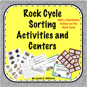 Rock Cycle Sorting Activities and Centers