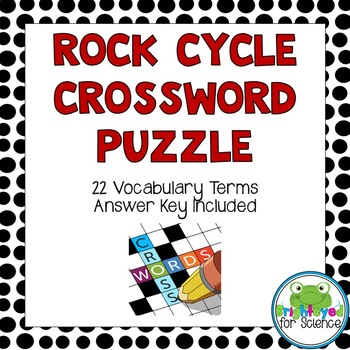 Rock Cycle Crossword Puzzle