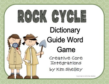 Rock Cycle Dictionary Sorting Game