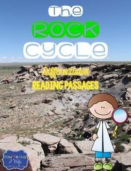 Rock Cycle Differentiated Reading Passages and Questions