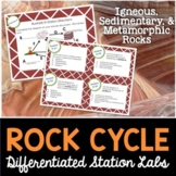 Rock Cycle Student-Led Station Lab