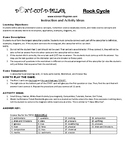 Rock Cycle Game Puzzle with Worksheet