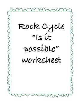"Rock Cycle ""Is It Possible"" Worksheet"
