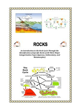 Rock Cycle:  JUST ROCKS!  (Introduction to Rock Cycle)