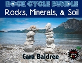 Rock Cycle, Minerals, and Soil Complete Unit BUNDLE/ Interactive Games/ Review