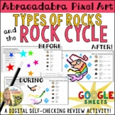 Rock Cycle Pixel Art Digital Review Distance Learning