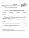 Rock Cycle Quiz with Answer Key
