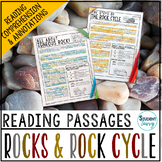 Rock Cycle Reading Passages - Questions - Annotations