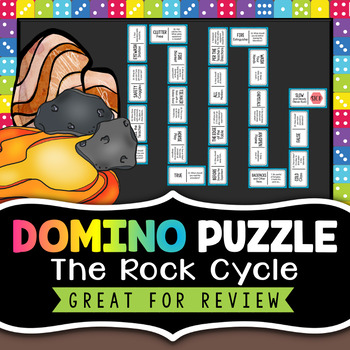 Rock Cycle Review Activity - Domino Puzzle - Fun Rock Cycle Game