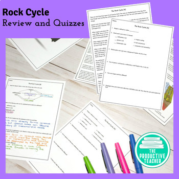 Rock Cycle Review Video and Quizzes