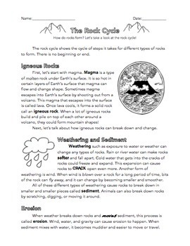 Weathering And Erosion Reading Comprehension Worksheets Worksheets ...