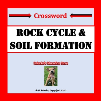Rock Cycle & Soil Formation Crossword Puzzle