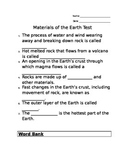 Rock Cycle Test
