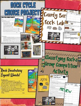 Rock Cycle, Types, and Formations Unit Bundle