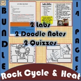 Rock Cycle & Types of Heat Bundle w/ 2 free quizzes
