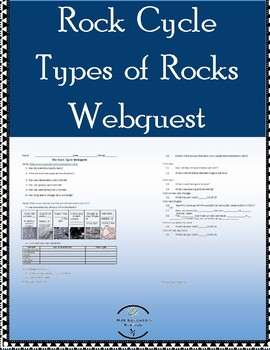 Rock Cycle & Types of Rocks Webquest w/ answer key by MJS ...