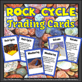 Rock Cycle Vocabulary Trading Cards