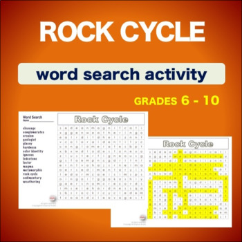 Rock Cycle * WordSearch * Vocabulary* Warm Up * Bell Ringer *