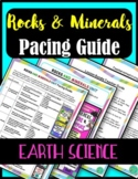 Rock Cycle and Minerals Pacing Guide- Earth Science