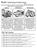 Rock Cycle and Rock Types - Activities