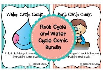Rock Cycle and Water Cycle Comic Bundle