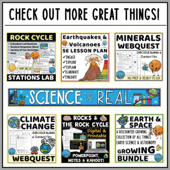 Rock Cycle Webquest with Types of Rocks - Digital and ...