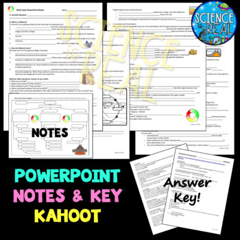 Rock Cycle  PowerPoint with Notes & KAHOOT!