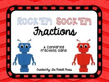 Rock 'Em Sock 'Em Fractions A Game for Comparing Fractions