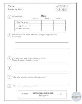 Rocks in Acid Experiment