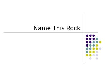 Rock Identification PowerPoint