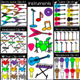 Rock Instrument Clipart! Guitar, Keyboard, Microphone, & more!