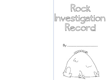 Rock Investigation Station Book
