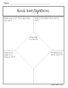 Rock Investigations Graphic Organizers Freebie