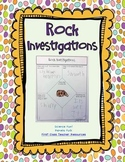 Rock Investigations Graphic Organizers Freebie