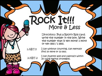 Rock It!! (Mentally add 1 or 10 or 100 more)