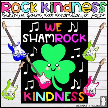 Rock Kindness St. Patrick's Day Bulletin Board, Door Decor, or Poster