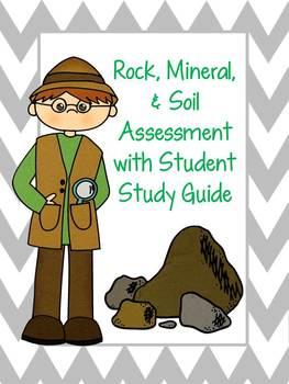 Rock, Mineral & Soil Test w/ Study Guide!