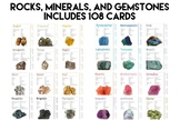 Rock, Mineral, and Gemstone Identification Cards | Set of