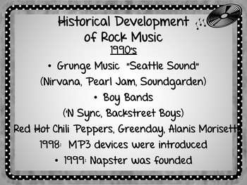 ROCK AND ROLL: AMERICA'S MOST POPULAR MUSIC POWERPOINT PRESENTATION